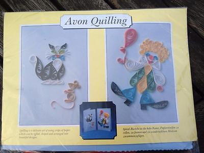 Avon Quilling Kit Cat & Clown Cards Paper, Glue, Tool, Envelopes, Cards
