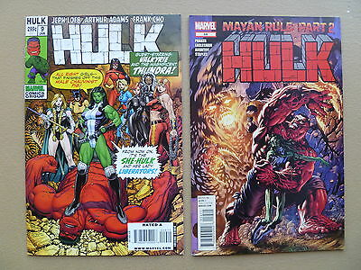 Incredible Hulk lot of 2 issues # 9 from 2009 & # 54 from 2012 She Hulk