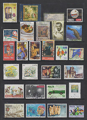 Collection Of Used Stamps From Malta  , See Scan