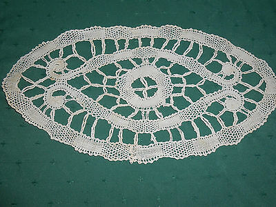 Vintage Needle Lace Doily,  Early Hand Made Lace, Circa 1920