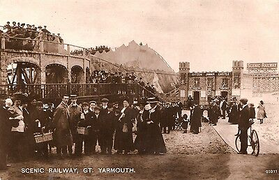 Scenic Railway, Great Yarmouth. RP. Posted 1911.