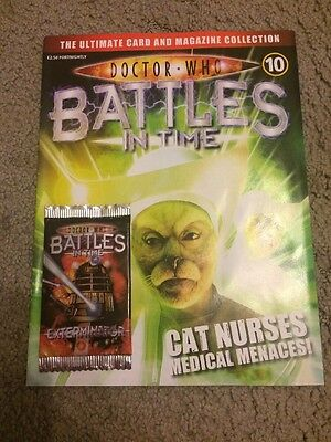 Doctor Who Battles In Time Issue 10 Collectors Magazine And Trading Cards