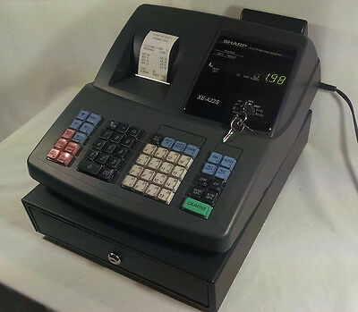Sharp Electronic Cash Register XE-A22S with Keys- Works Great!