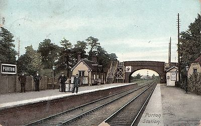 Purton Railway Station. Posted 1905.