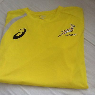 South Africa Springboks Rugby Training Top  By Asics Adults Xl