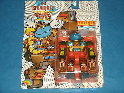 Les Bioniques/BIONIC SIX: F.L.U.F.F.I. Die-Cast Action Figure Carded 1986 Rare!