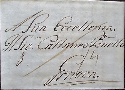 Austria. Italy. Entire letter sent from Vienna to Genoa on 18/1/1762.