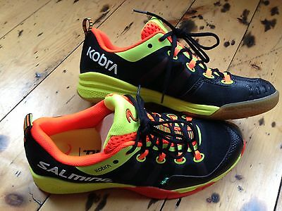 Salming Kobra Men's Indoor Shoes - Black / Shock Orange size UK 11