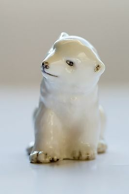 Vintage Baby Polar Bear Cub in the Branksome pottery animal range - collectable.