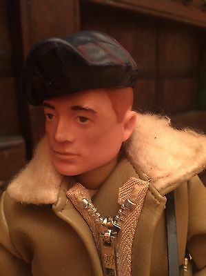 Vintage Action Man - RED PAINTED HARD HEAD & RIVETS Armoured Car Commander