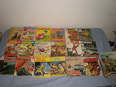 Job Lot Commando + War Picture Library + Others Comic Books