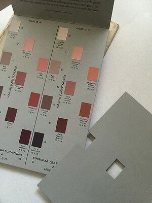 Vintage Rock Color Chart Geological Society Of America