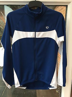 Men's PEARL IZUMI cold weather long sleeve full zip cycling jersey, size M