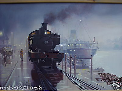 """""""GWR PANNIER at WEYMOUTH"""" artist-signed print 17""""x11"""""""