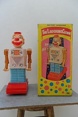 Rare The Laughing Clown Robot Battery Operated by Waco Made in Japan 1960's Box