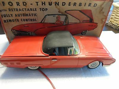 Vintage Ford Thunderbird With Retractable Top Battery Operated With Box Nice