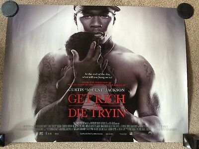 50 Cents Get Rich Or Die Tryin Film, Double Sided Advertising Poster