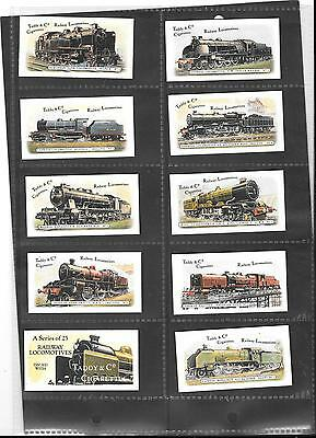 Taddy & Co - Railway Locomotives - Full Set In Sleeves - 1980