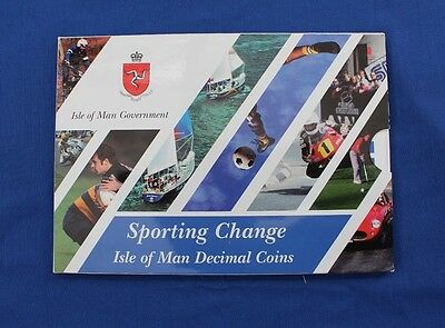"1997 Isle of Man 9 coin ""Sporting Change"" Uncirculated set in Folder   (X5/2)"