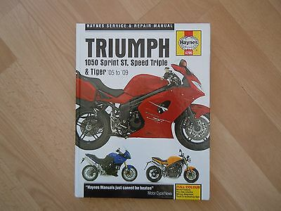 Haynes Manual for Triumph 1050 Sprint ST, Tiger and Speed Triple