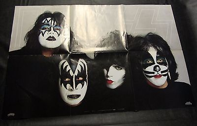 1979 KISS POSTER AUCOIN Casablanca Records Rock Steady * NO HOLES or TAPE UNUSED