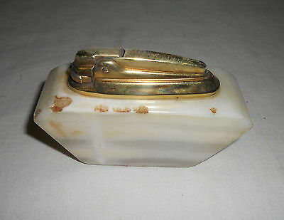 STUNNING Rare VINTAGE Traditional Collectable MARBLE TABLE LIGHTER 10cm x 6cm