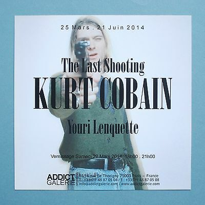 KURT COBAIN THE LAST SHOOTING BY YOURI LENQUETTE INVITATION 8in x 8in