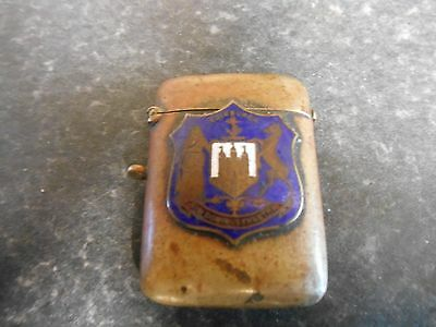 Vintage Vesta Case With Edinburgh Coat Of Arms On The Front