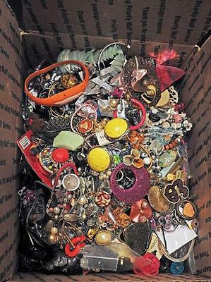 10 Lbs Costume Jewelry Mixed Contemporary Vintage Wear Sell Harvest Lot B