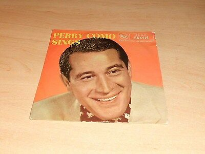 """Perry Como Sings 4 Track Ep  Vinyl 7""""  Single Pic Sleeve Rca Tri-Centre"""