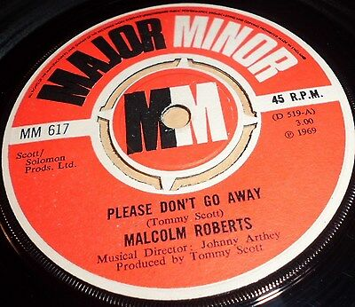 """Malcolm Roberts Please Don`t Go Away / Picking Up The Pieces   Vinyl 7"""" Single"""