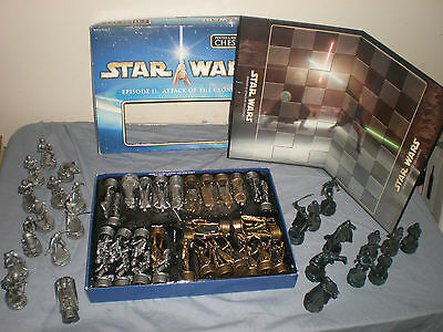 Star Wars Episode 2 Chess Set Pewter And Bronze Effect + Job Lot Extras