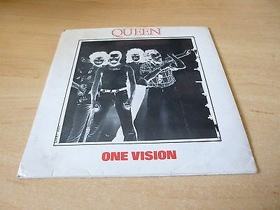 """Queen One Vision/blurred Vision Inc Printed Inner Sleeve 7"""" Vinyl Single Pic Slv"""