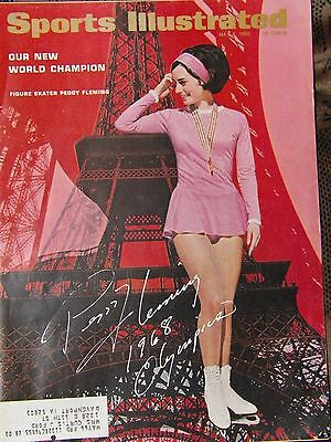 Peggy Fleming signed 1966 Sports Illustrated Olympics Gold Skating