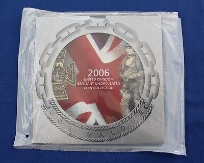 2006 Royal Mint 10 coin Uncirculated set in folder - Factory Sealed (X5/16)