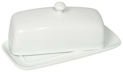 Now Designs Butter Dish, White
