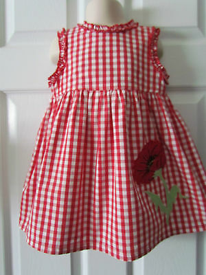 Copper Key Red White Plaid Toddler Girls Summer Dress Size 3T