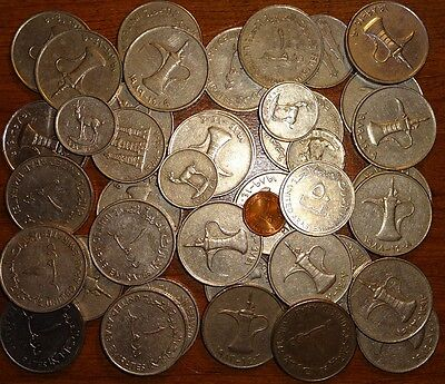 Lot Of (41) United Arab Emirates Mixed Coins !!!!