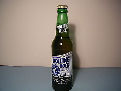 Vintage Rolling Rock Beer 12Oz  Bottle With Top Empty Painted On Label
