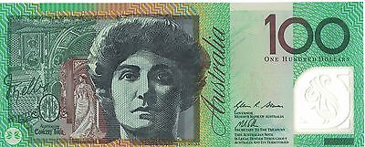 Australian $100 bank note AA13 prefix UNC condition