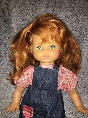 """Gorgeous 20"""" 1985 Zapf Doll Red Haired Toddler Girl Cloth Vinyl"""