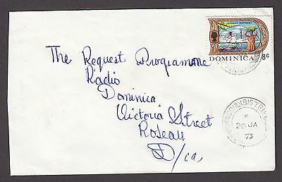 Dominica Local 1972 Cover With 'coulibistrie' Pmk