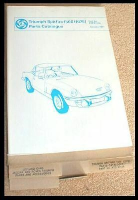 1977 Triumph Spitfire 1500 Parts Manual  Stag Tr 3 4 7 Rtc 9110 A