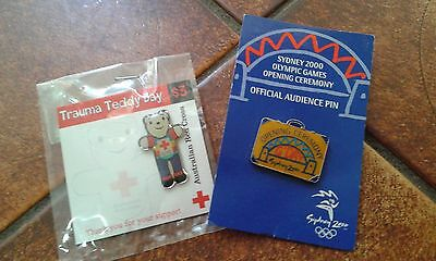 Sydney 2000 Olympics Collectable Pin New & Trauma Teddy, local pickup