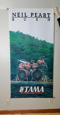 Neil Peart Rush Tama Drums Tapestry Very Rare Collectible