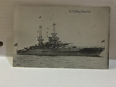 WW2  RPPC of the U S S New Mexico Unposted divided