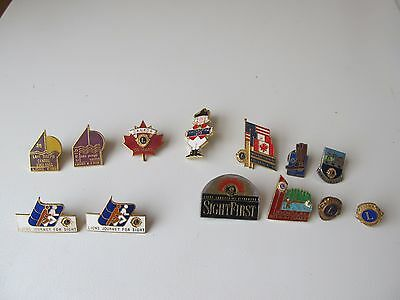 13 Lions Club Related pins