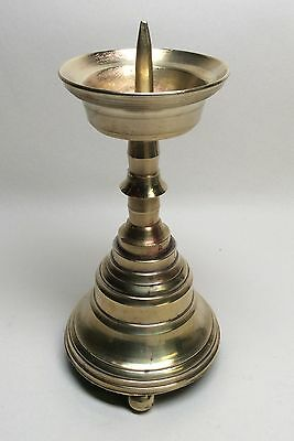 Pretty Little 19th Century Gothic Revival Victorian Pricket Candlestick 16th 17t