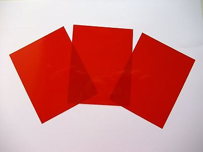 3 x Universal Red Filters 80mm x 100mm for Underwater Camera Housing