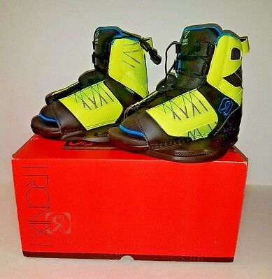 RONIX K 2-6 Vision Boots Neon Butter/Azure Youth Wakeboard Boots New in Box